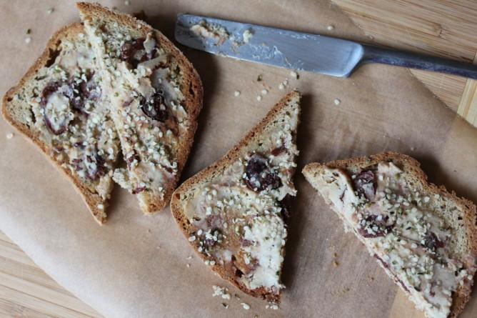 Fermented Nut Cheese Gluten Free toast