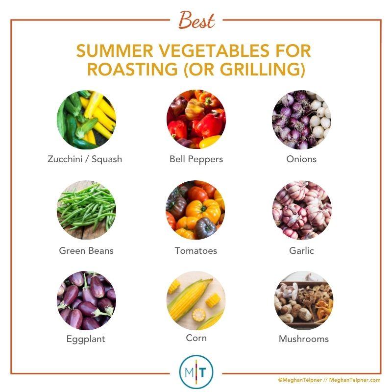 Summer vegetables for roasting (or grilling)